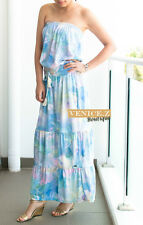 BNWT BILLABONG Watercolour Maxi Strapless Dress Size 12