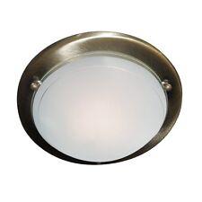 Searchlight Lighting 702AB Jupiter Antique Brass Flush Ceiling Fitting