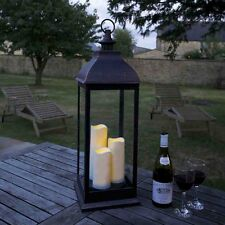 Giant Copper Lantern Battery Operated for Indoors or Outdoors By Smart Garden