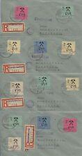 Lokalausgaben Großräschen 13-24 auf 4 R-Briefen nach Radeberg (B03133)