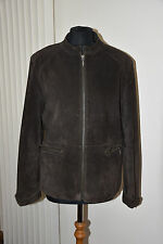 Real Leather brown jacket from Papaya UK 16.Suede.Casual ladies jacket