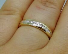 R510- Genuine 9ct Solid Yellow Gold Natural Diamond Eternity Wedding Ring size N