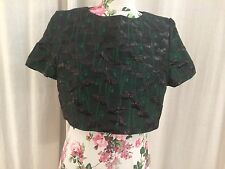 Topshop Limited Edition Green Poppy Jacquard Crop Top UK Size 16 BNWT RRP £65