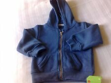 Blue hooded cardigan 12-18 months new