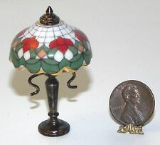 Dollhouse Miniature Lamp Rose Non Electric Reutter Porcelain 1:12 Scale