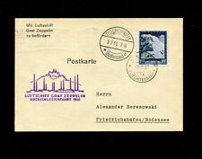 Zeppelin Sieger 115 1931 Oberschlesien Flight  Liechtenstein treaty franking