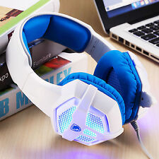 SA806 3.5mm Jack Stereo Gaming Headset Headphones with Microphone for PC laptop