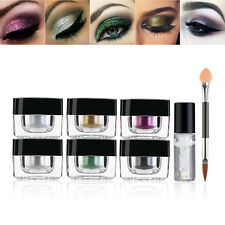 6 Colors Loose Glitter Powder Eyeshadow Eye Shadow Face + Fix Gel Makeup
