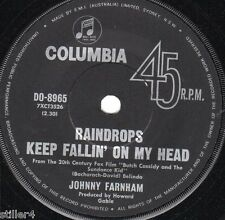 JOHNNY FARNHAM Raindrops Keep Fallin´On My Head *AUSTRALIA ORIGINAL 60s SINGLE*