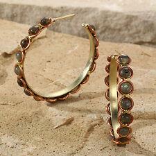 Tara Mesa Labradorite Beaded Hoop Earrings @SOPHISTICATED@ MSRP~$225.00