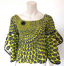 Dashiki  Ankara Wax Print Top African Ethnic Boho Hippy UK Size 6 - 8