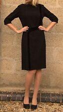 Vintage 1940s B de L Model Velvet Stripe Tailored Shift Dress L 14