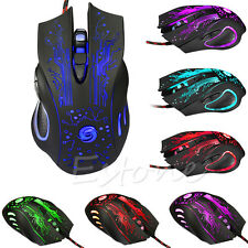 Professional 6 Buttons 5500DPI USB Optical Wired Gaming Mouse Mice For PC Laptop