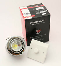 10 x CHROME FIRE RATED  GU10 DOWN LIGHT WITH DIMMERABLE  LED 5 WATTBULB £46.99