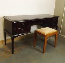 Stag Mahogany Coloured Dressing Table With Five Drawers and Stool