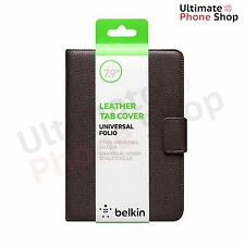 """Genuine Belkin Grain Leather Folio Case Universal 6"""" to 7.9"""" for Tablet and iPad"""