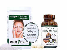 Natura Vitalis Collagen-Lift-Drink 800g + 120 Kapseln Cocochi