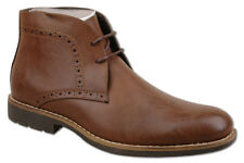 Mens New Brown Lace Up Fashion Ankle Boots UK Size 10