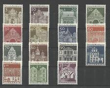 Bund 489 -  503 postfrisch BRD Freimarken Deutsche Bauwerke II MNH