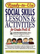 Ready-to-use Social Skills Lessons and Activities for Grades PreK-K .