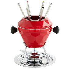 VonShef Cast Iron Party Fondue Set for Cheese Chocolate & Meat Dipping - 6 Forks