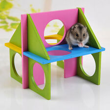 Hamster Toy Mouse Rat Wooden Funny Natural Gym Playground Exercise Safe New Pet