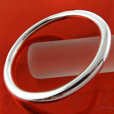 A798 GENUINE REAL 925 STERLING SILVER S/F SOLID LADIES CUFF BANGLE BRACELET