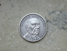 Gedenkmünze von alt Bundeskanzler Konrad Adenauer