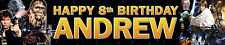 2 x STAR WARS PERSONALISED BIRTHDAY BANNERS OPT2