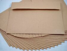 """25 Kraft Recycled 180x130mm Envelopes Brown Natural Fits 5""""x7"""" Photo FREEPOSTAGE"""