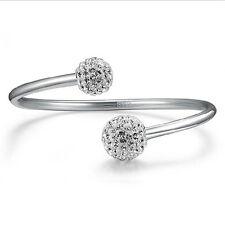 New Fashion Women Jewellery 925 Sterling Silver Shamballa Beads Bangle Bracelet