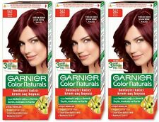 3 x GARNIER COLOR NATURALS HAIR COLOURANT CREAM PERMANENT DYE - Vibrant Red 562