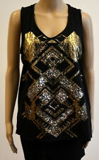 Boohoo Women's Sleeveless Black Size 14 Tunic Top Vest