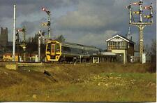 Class 158 Semaphore Signals Ely Dock Junction Cambridgeshire 1990s postcard