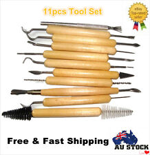 11ps DIY Sculpture Carvers Clay Sculpting Carving Pottery Tools Polymer Modeling