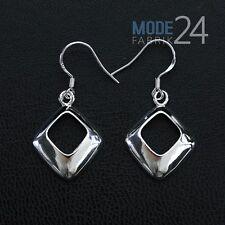 Damen Ohrringe Ohr Haken durchzieher Hänger 925 Sterling Silber pl