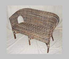 Rattan Bank (Sessel) in der Farbe zebra neu geflochten