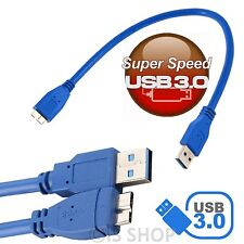 30CM SuperSpeed Micro USB 3.0 Data Charging Cable For Samsung Galaxy S5 Note 3