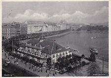 AK Hamburg gel. 1940 Alsterpavillon Schiffe Boote
