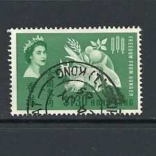 1963 Queen Elizabeth II SG211 Freedom from Hunger Fine Used HONG KONG