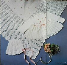 PATONS BABY KNITTING+CROCHET PATTERN BOOK-BABY FAVOURITES,LAYETTES,JUMPERS,SHAWL