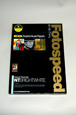 Fotospeed  Natural Textured BRIGHT WHITE Inkjet Photo Paper- 315gsm A4 20 sheets