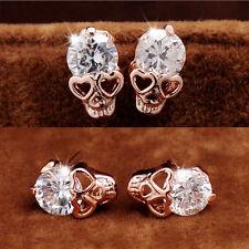 Excellent Stud Earrings Women Diamond Gold Plated Skull Stud Earrings Top