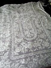 "Vintage 72x60"" Small Quaker lace Floral tablecloth table cloth Cotton White new"