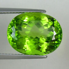 VERY RARE 10x8mm OVAL-FACET STRONG-GREEN NATURAL AFGHAN PERIDOT GEM (APP £242)
