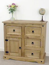 Mercers Furniture® Corona Mexican Pine Small 1 Door 4 Drawer Sideboard