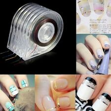 6PC DIY Easy Use Nail Art Roll Striping Tape Line Case Tool Sticker Box Holder K