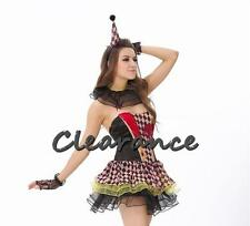 Lady's Zombie Circus Clown Halloween Costume CLEARANCE