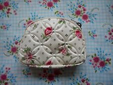 Lovely unused genuine vintage 50's 60's kitsch floral coin change purse with zip