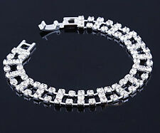 Fancy Style Wedding Crystal Bracelet Bangle Rhinestone Bride Jewellery Prom New